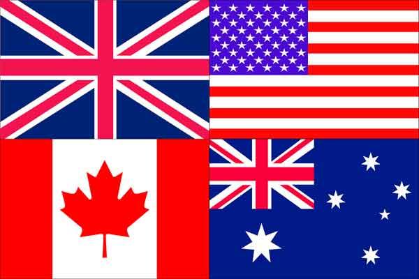 Países Que Hablan Ingles El Mundo Infinito